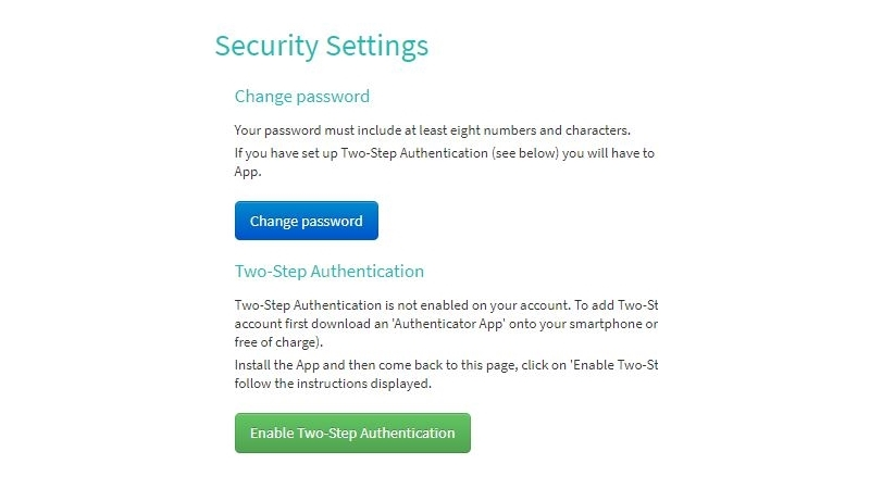Two-Step Authentication delivers enhanced data protection